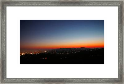 Sunset Over Los Angeles Framed Print by Jera Sky