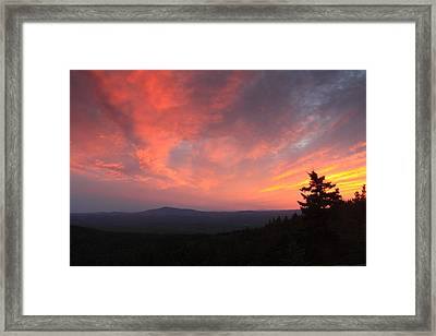 Sunset Over Mount Monadnock From North Pack Framed Print by John Burk