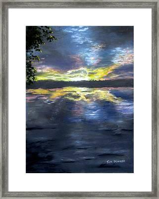 Sunset Over Mystic Lakes Framed Print by Jack Skinner