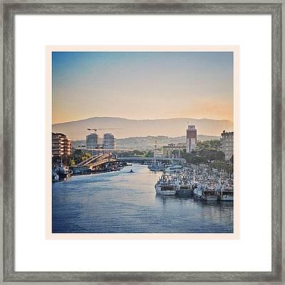 Sunset Over Pescara Framed Print