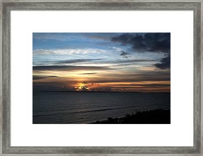 Sunset Over Poole Bay Framed Print