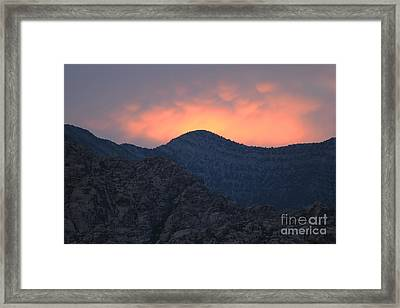 Framed Print featuring the photograph Sunset Over Red Rock by Art Whitton