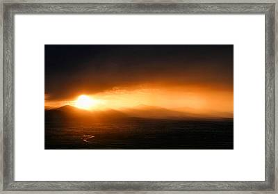 Sunset Over Salt Lake City Framed Print by Kristin Elmquist