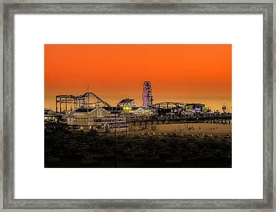 Sunset Over Santa Monica Pier Framed Print by Trevor Seitz