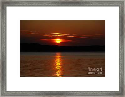 Sunset Over Silver Lake Sand Dunes Framed Print by Grace Grogan