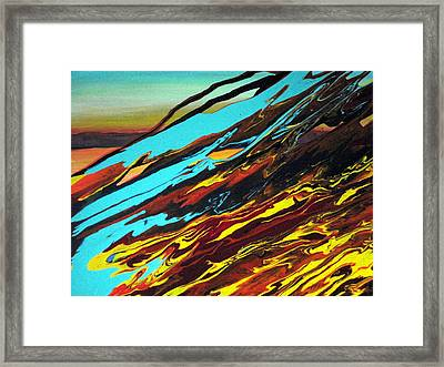 Sunset Over The Ocean Framed Print by Tatyana Seamon