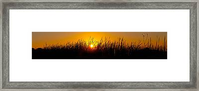 Sunset Over The Prairie Framed Print