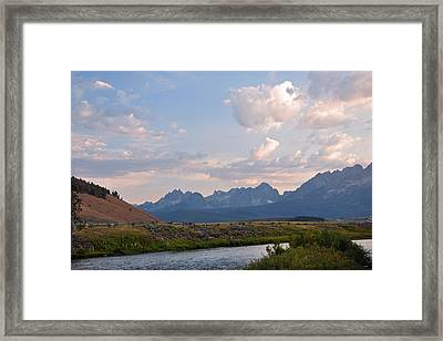 Sunset Over The Salmon River Framed Print