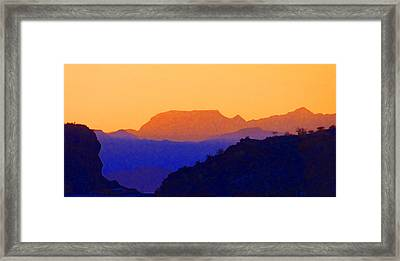 Sunset Over The Sierra Gigantes Framed Print by Anne Mott