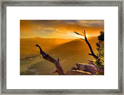 Sunset Over The Valley Framed Print