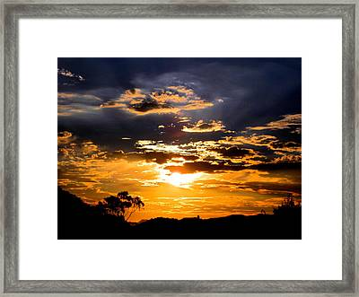 Sunset Over Topanga Framed Print by Catherine Natalia  Roche