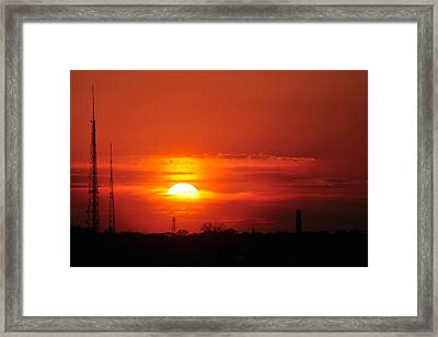 Sunset Over Washington Dc Framed Print