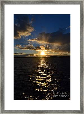 Sunset Over Winnepesaukee Framed Print