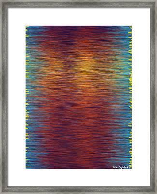 Sunset Park Framed Print by Jen Sparks