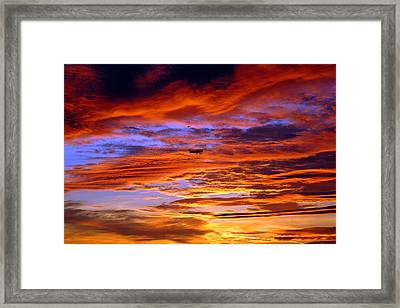 Sunset Pattern Framed Print by Dan Myers