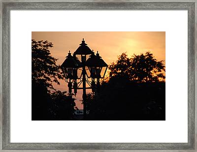 Framed Print featuring the photograph Sunset Place Vouquelin by John Schneider