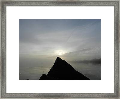 Sunset Point Framed Print by Dennis Leatherman