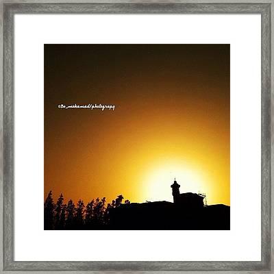 Sunset #pop #popular #pop_page Framed Print