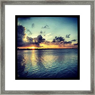 #sunset #pretty  #summer #sun Framed Print
