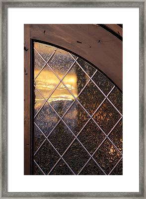 Sunset Projection Framed Print by Viktor Savchenko