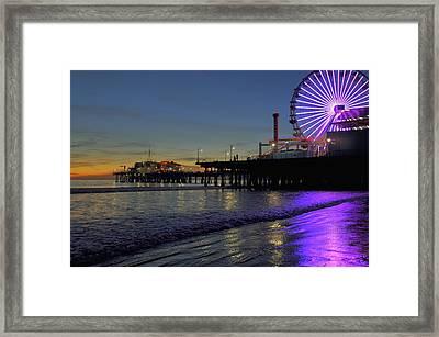 Sunset Purple Framed Print