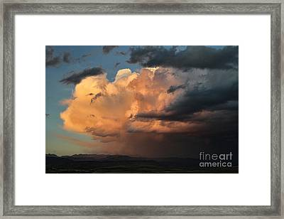 Sunset Rain Framed Print by Edward R Wisell