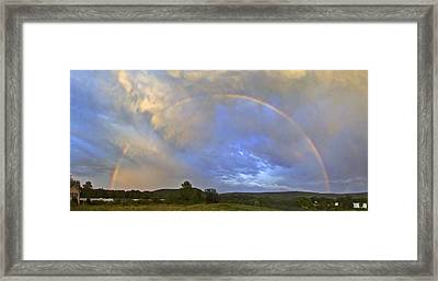 Sunset Rainbow Framed Print