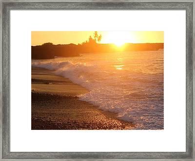 Sunset Rays Framed Print by Nadi Leonard