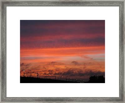 Sunset Reeshof Framed Print by Nop Briex