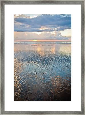 Sunset Reflection - Small Ripples Framed Print by Anthony Doudt
