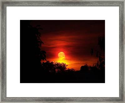 Sunset Framed Print by Richard Adams