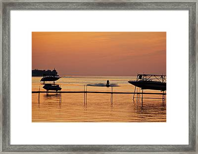 Sunset Ride Framed Print by Eve Spring