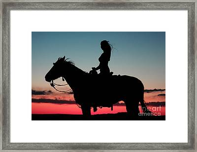 Sunset Ride Framed Print by Val Armstrong