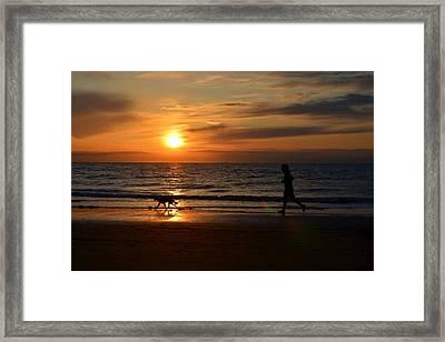 Sunset Run Framed Print