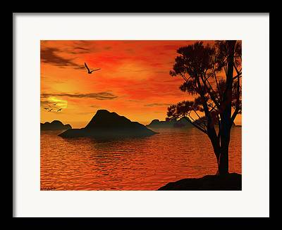 Mysterious Sunset Framed Prints