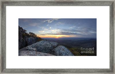 Sunset Shenandoah National Park Marys Rock Framed Print