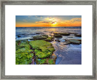 Sunset Siesta Key  Framed Print by Jenny Ellen Photography