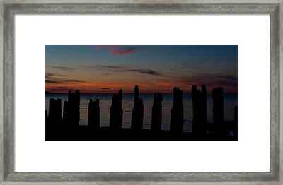Sunset Silhouette Framed Print by Matt Dobson