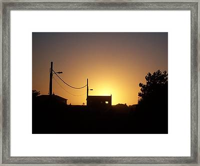 Framed Print featuring the photograph Sunset Silhouette by Peter Mooyman