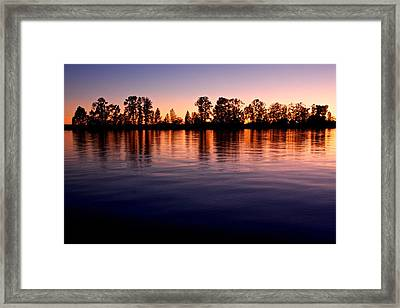 Framed Print featuring the photograph Sunset Silhouette by Scott Holmes