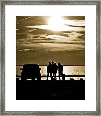 Sunset Silhouette Framed Print by Vicki Jauron