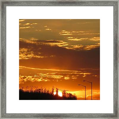 Framed Print featuring the photograph Sunset Skies by Nikki McInnes