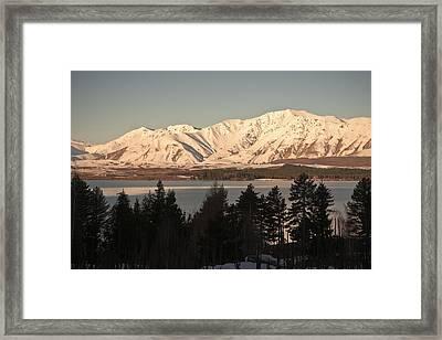 Sunset Snow Framed Print by Graeme Knox