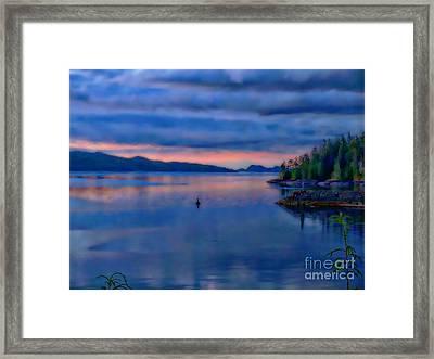 Sunset Softness Framed Print