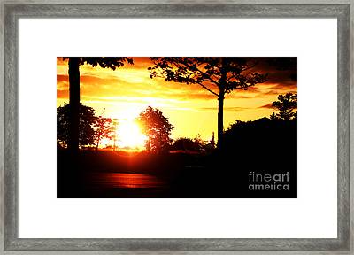 Sunset Soon Framed Print by Alexander Photography