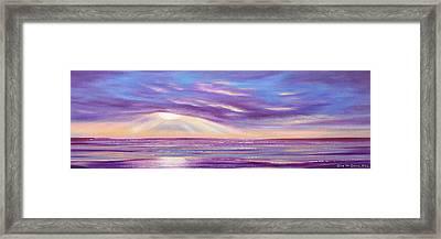 Sunset Spectacular - Panoramic Sunset Framed Print