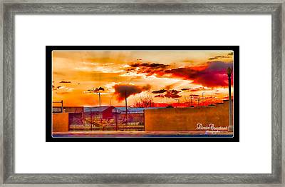 Sunset Station Framed Print