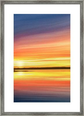 Sunset Stratas Framed Print