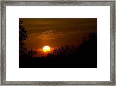 Framed Print featuring the photograph Sunset Sun Eclipse by Nick Mares