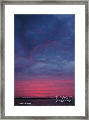 Framed Print featuring the photograph Sunset Surprise by Tannis  Baldwin